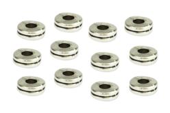 Perles intercalaires disque argenté - 12 perles - Perles Lithothérapie – 10doigts.fr