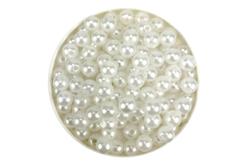 Perles blanches nacrées - Qualité économique - Perles nacrées – 10doigts.fr
