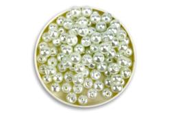 Perles blanches nacrées - Qualité supérieure - Perles nacrées – 10doigts.fr - 2