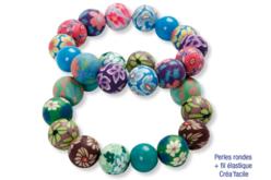 Perles rondes Millefiori - 50 perles - Perles en pâte polymère – 10doigts.fr - 2