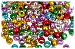 perles rondes métalisées gros trous