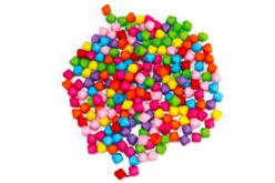 Perles toupies à facettes opaques - 300 perles - Perles acrylique – 10doigts.fr - 2