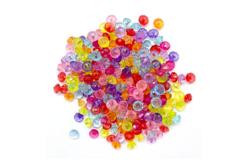 Perles toupies à facettes translucides - environ 200 perles - Perles acrylique – 10doigts.fr - 2