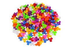 Perles tripodes opaques - 250 perles - Perles en plastique – 10doigts.fr - 2