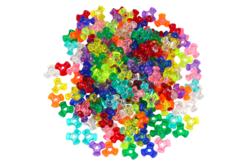 Perles tripodes translucides - 250 perles - Perles en plastique – 10doigts.fr - 2