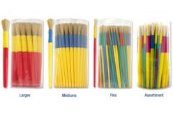 Pinceaux grosse touffe, manche en plastique - Brosses – 10doigts.fr