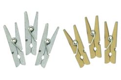Pinces à linge métallisées - Set de 24 - Pinces à linge colorées – 10doigts.fr - 2