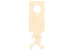 plaque de porte bois