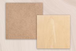 Support plat carré en bois ou MDF  - Forme au choix - Supports plats – 10doigts.fr