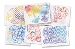 Plaques dessin relief animaux mignons - Set de 6 - Plaque relief – 10doigts.fr - 2