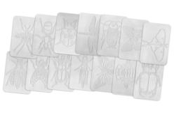 Plaques dessin relief insectes - Set de 16 - Plaque relief – 10doigts.fr