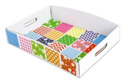 Plateaux en carton blanc - Lot de 30 - Paniers, plateaux en carton – 10doigts.fr - 2
