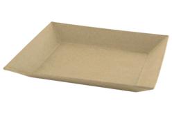 Plateau en papier mâché - 22 x 17 cm - Paniers, plateaux en carton – 10doigts.fr - 2