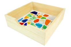 Mosaïques multicolores en verre poli - 2 kg - Mosaïques verre – 10doigts.fr - 2