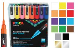 Marqueurs peinture POSCA - Pointes fines - Feutres pointes fines – 10doigts.fr - 2
