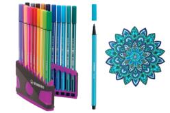 Feutres Stabilo Pen 68 + Cahier coloriage OFFERT - Feutres pointes fines – 10doigts.fr - 2