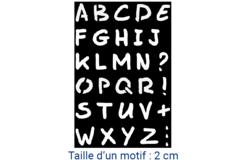 Pochoir alphabet