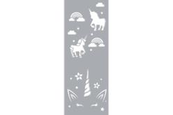 Pochoir motifs licorne et arc-en-ciel - 15 x 40 cm - Pochoirs frises – 10doigts.fr - 2