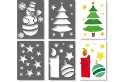 Pochoirs de Noël - Set de 4 - Pochoirs fêtes – 10doigts.fr