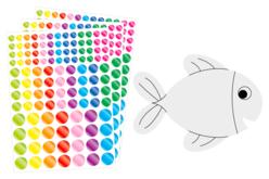 Poissons à décorer - 6 poissons - Kits activités Pâques – 10doigts.fr - 2