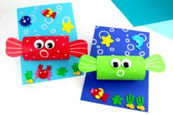 Stickers de la mer en feutrine - Formes en Feutrine Autocollante – 10doigts.fr - 2