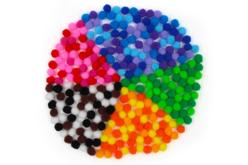 Mega pack Pompons - 1200 pompons (16 couleurs) - Pompons – 10doigts.fr