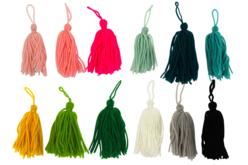 Pompons long en laine - Couleurs au choix - Pompons – 10doigts.fr