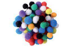Mini-pompons couleurs vives - Set de 200 - Pompons – 10doigts.fr