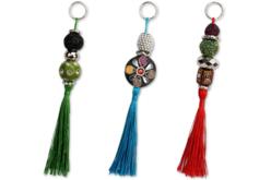 Perles artisanales Bollywood - 10 perles - Bijoux Bohème – 10doigts.fr - 2