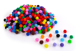 Mega pack Pompons - 1200 pompons (16 couleurs) - Pompons – 10doigts.fr - 2