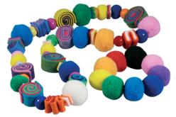 Pompons perles couleurs vives - Set de 48 - Pompons – 10doigts.fr - 2