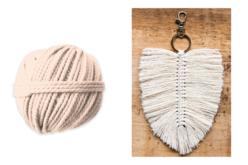 Coton cablé Ø 2,5 mm - Couleur naturelle écrue - Rubans et ficelles – 10doigts.fr