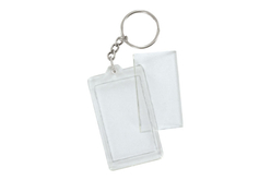 Porte-clefs porte-photo - Lot de 2 - Plastique Transparent – 10doigts.fr
