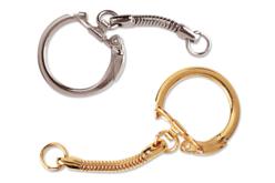 porte-clefs argentés ou dorés
