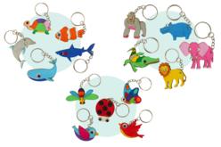 porte clés animaux en bois