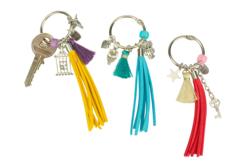 Porte-clés pompons colorés - Kit 3 couleurs - Kits bijoux – 10doigts.fr - 2