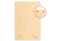 Porte-clés mural en bois - Plaques en bois – 10doigts.fr - 2