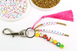 Perles rondes alphabet multicolore - 250 perles - Perles Alphabet – 10doigts.fr - 2