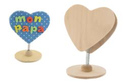 Clip mémo coeur en bois - Cadres photos en bois – 10doigts.fr