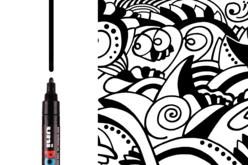 Marqueur Posca PC5M - Noir ou blanc - Marqueurs POSCA – 10doigts.fr - 2