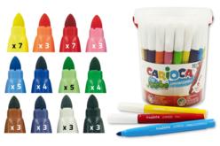 pot 50 feutres grosses pointes écoles enfants carioca
