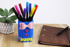 Pots à crayons hexagonaux en carton blanc - Pots, vases en carton – 10doigts.fr - 2