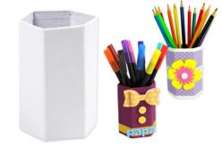 pot à crayons fleurs