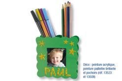 Pot à crayons porte-photo - Pots à crayons – 10doigts.fr