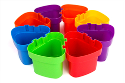Pots emboitables en plastique - Set de 8 - Palettes et rangements – 10doigts.fr - 2