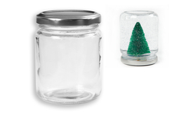 Pot en verre avec couvercle à visser - 240 ml - Supports en Verre – 10doigts.fr