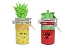 Pot à épices rond en verre - Lot de 4 - Supports pour mosaïques – 10doigts.fr - 2