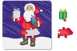 """Puzzle """"Père Noël"""" à colorier - Puzzles à colorier – 10doigts.fr - 2"""