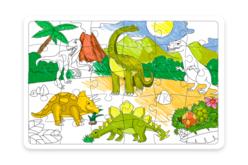Grand  Puzzle Dinosaures à colorier - Puzzle à colorier, dessiner ou peindre – 10doigts.fr - 2