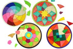 Dessous de plat puzzle en bois - Set de 4 modèles - Puzzle à colorier, dessiner ou peindre – 10doigts.fr - 2